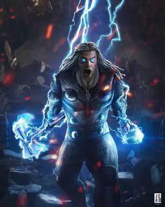 Thor (end game) avengers marvel comics, marvel avengers, mar Marvel Dc Comics, Marvel Avengers, Marvel Fanart, Films Marvel, Marvel Characters, Marvel Heroes, Marvel Cinematic, Iron Man Avengers, Die Rächer