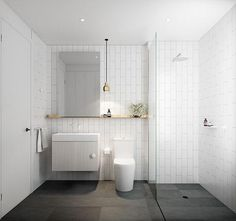 White Bathroom Ideas - These 27 great white shower rooms offer layout ideas for every person. Chic Bathrooms, Bathroom Sets, White Bathroom, Modern Bathroom, Small Bathroom, Dyi Bathroom, Bathroom Photos, Bathroom Plants, Master Bathrooms