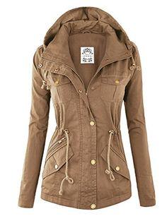 MBJ Damen Military Anorak Safari Hoodie Jacke - Stitch Fix Style Inspiration -