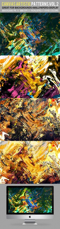 Canvas Artistic Backgrounds & Patterns Vol.2 - $3.00