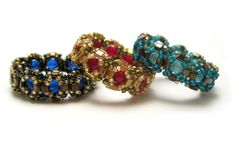 Captured Beaded Ring free Pattern. These are really a treasure.