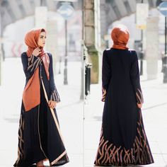 Ramadhan Kareem everyone! I hope you all have a blessed month ❤ This gorgeous piece is from . I love the embroidery on it Infp, Abaya Fashion, Modest Fashion, Hijab Abaya, Modest Wear, Create Photo, Types Of Dresses, Dressing, Gowns