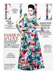 love #pattern #cover #elle #magazine