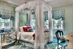 Designer Christine Ho– Girls Room with Beautiful white iron bed