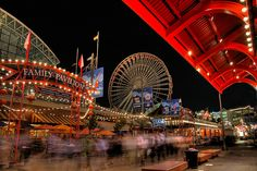 Navy Pier is an Amusement Park in Chicago. Plan your road trip to Navy Pier in IL with Roadtrippers. Barack Obama, Oh The Places You'll Go, Places To Travel, Travel Sights, Travel Destinations, Navy Pier Chicago, Chicago Apartment, Ikea Inspiration, Chicago Travel