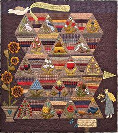 Primitive Folk Art Quilt Pattern  Comment par FiddlestixDesign