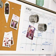 Keep a calendar of landscaping activities and you won't have to guess when you last fertilized the lawn or planted seeds. This one is metal, creating a convenient place to secure plant tags, seed packets, and small parts with magnetic holders. Ribbon Organization, Shed Organization, Shed Storage, Storage Ideas, Old Window Shutters, Shed Doors, Potting Sheds, Potting Benches, Gardening Gloves