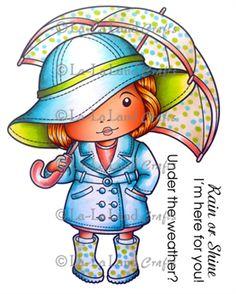 lala Land Crafts Marci with Umbrella (with Sentiments) - Scrap-mart.com