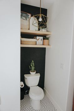 Toilet Room Decor, Small Toilet Room, Small Bathroom, Ikea Bathroom, Small Toilet Decor, Toilet Wall, Bathroom Fixtures, Bathroom Ideas, Bad Inspiration