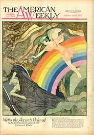 The American Weekly - Edmund Dulac 1933 Bronte Sisters, Edmund Dulac, Vintage Magazines, Illustrators, Fairy Tales, Novels, History, American, Artist