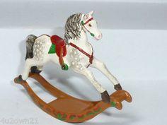 Hantel Miniature Pewter Rocking Horse Dapple Grey Animal