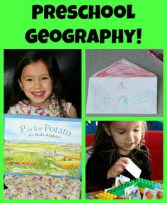Preschool geography activity: Teach your child their address and learn fun facts about your state.  Includes links to all 50 states!