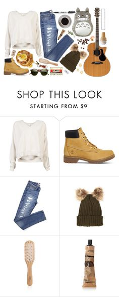 """The Breakfast Guitar Hero"" by kahahathrryn ❤ liked on Polyvore featuring Demylee, Timberland, Philip Kingsley, Bunn, Sharpie, Aesop and INDIE HAIR"