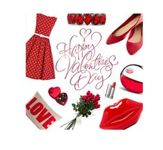 """Happy Valentines Day my Poly Friends"" by chalsouv ❤ liked on Polyvore featuring DKNY, Wet Seal, Hanky Panky, Alexandra Ferguson, Godiva, Lancôme, women's clothing, women, female and woman"