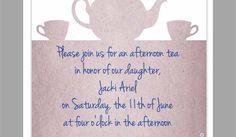 Tea Party Invitation Template Princess Tea Party, Tea Party Invitations, Afternoon Tea, Templates, Models, Stenciling, Stencils