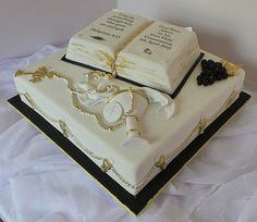 Confirmation Cake with fondant decorations | Flickr - Photo Sharing!