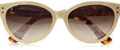 shopstyle.com: Cutler and Gross Cat eye metallic acetate sunglasses