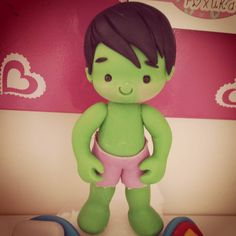 Hulk Superhero, 23 And Me, Pasta Flexible, Yoshi, Cake Toppers, Biscuits, Polymer Clay, Baby Shower, Instagram