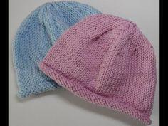 Mutsje breien (2 breinaalden) en vele andere tutorials, gemaakt voor Bente Easy Knitting, Knitting Patterns, Knit Crochet, Crochet Hats, Slouch Beanie, Beanie Pattern, Baby Design, Mittens, Knitted Hats