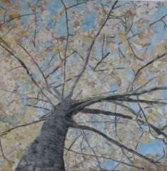 Mixing acrylic, oil pastels, India Ink, colored pencil, watercolors and conte to paint a mixed media tree: Making Roots