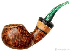 Daniel Mustran Smooth Bent Apple with Jobillo Pipes at Smoking Pipes
