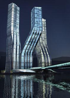Zaha Hadid - Dancing Towers, Dubai #bodegas #bodegasYlotes #arrenamosBodegas