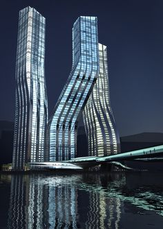 Zaha Hadid - Dancing Towers, Dubai