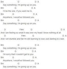 say something // chords