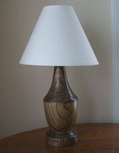 Turned Wood Lamp, Pine Table Lamp