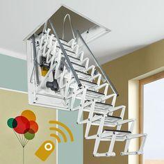 Fontanot Zooom Plus electric scissor loft ladders