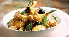 Ragoût de poulet aux citron et olivesDécouvrir la recette du ragoût de poulet aux citron et olives