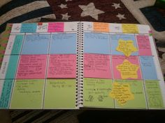 Great tips on creating your own Post-It Note lesson plan binder.
