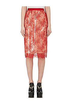 Lace & PVC Pencil Skirt - on #sale 40% off @ #BarneysNewYork