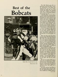 "Spectrum Green Yearbook, 1982. 1981 football season. "" Best of the Bobcats."" ""Sammy Shon, #14, goes back for a pass. "" :: Ohio University Archives"