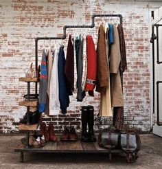 Lovely Industrial Clothing Rack Original & Authentic de Luxe with an actual twist