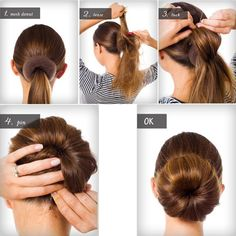 Image result for donut hair bun