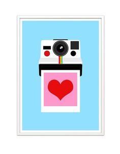 Cámara Polaroid imprimir amor instantáneo 50 x 70 cm por yumalum