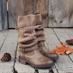 Comfy Cabin Sweater Boots, Sweet & Rugged boots from Spool No.72   Spool No.72