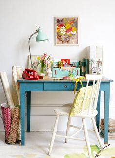 Colorful creative office space, photo Rachel Whiting
