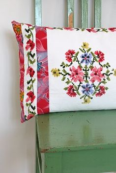 Embroidered pillow!