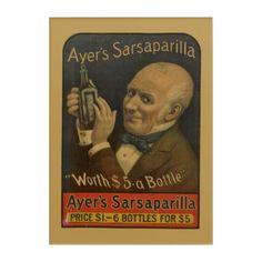#personalize - #NYPL | Ayer's Sarsaparilla Acrylic Wall Art