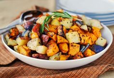 Roasted Butternut Squash, Onions and Red Potatoes with Fresh Herbs | Tasty Kitchen: A Happy Recipe Community!