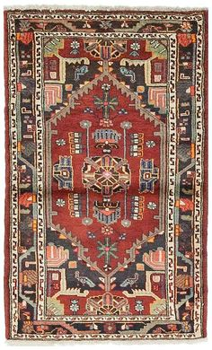 Solo Rugs Hamadan Prisca Hand-Knotted Area Rug, x Persian Rug, Turkish Rugs, Rugs On Carpet, Carpets, Bohemian Rug, Area Rugs, Interior Design, Painting, Home Decor