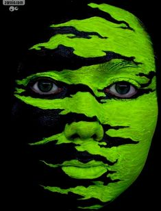 Green - Face painting