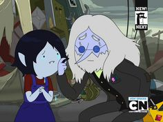 Simon (the Ice King) consoles a young Marceline