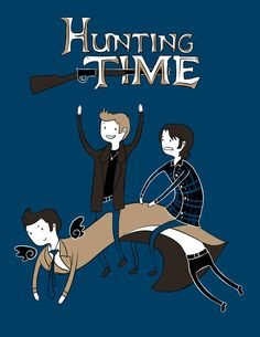 Supernatural Adventure time ~iphone 4 wallpaper