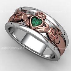 Design your own Irish engagement ring. Create the perfect Irish, Celtic, or Claddagh ring, designed and made just for you. Perfect Engagement Ring, Vintage Engagement Rings, Vintage Rings, Claddagh Tattoo, Claddagh Rings, Jewelry Rings, Jewelry Accessories, Jewellery, Irish Rings