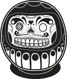 Skull daruma