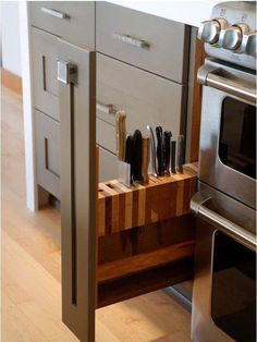Good idea to keep knives away by storing in a drawer