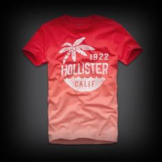 Hollister メンズ Tシャツ  ホリスターDesert Springs Tee Tシャツ  ★綺麗なグラディーションカラーがいい感じに味をだしています ♪  ★1枚はおさえておきたい一品!